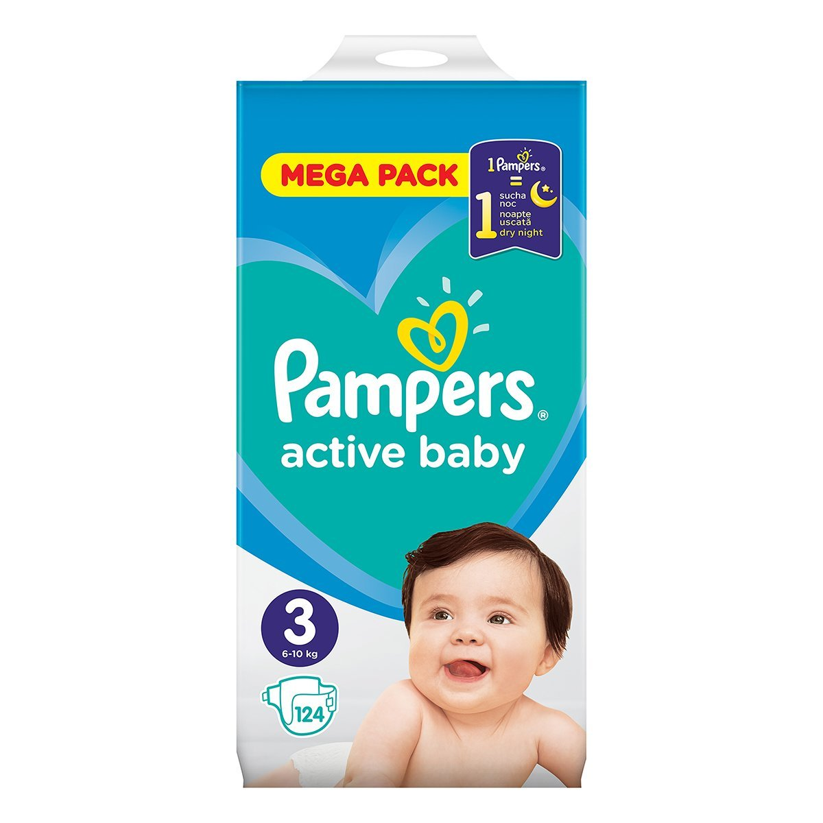 4897dbdd8298 Pampers Подгузники Pampers Active Baby Размер 3 6-10 кг, 124 шт ТМ  Pamper
