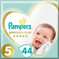 Подгузники Pampers Premium Care Размер 5 Junior 11-16 кг 44 шт