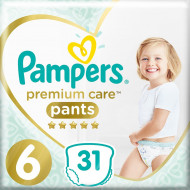 Трусики Pampers Premium Care 15+ кг Размер 6 Extra large 31 шт