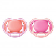 Пустышка Philips Avent Ultra Air Soother Pink 6-18 мес Девочка 2 шт (в ассорт)