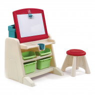 Стол для творчества Step 2 Flip&Doodle Easel Desk with Stool