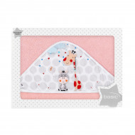 Полотенце Interbaby Jungle 100x100 cм розовое