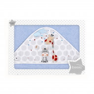Полотенце Interbaby Jungle 100x100 cм голубое