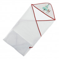 Полотенце Interbaby Tipi Oso White Red 100х100 см