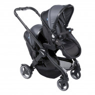 Коляска Chicco Fully Twin Black Gray