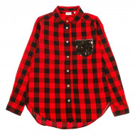 Рубашка BluKids Black Red
