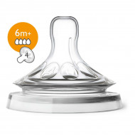 Соска Philips Avent Natural 6 мес, 2 шт